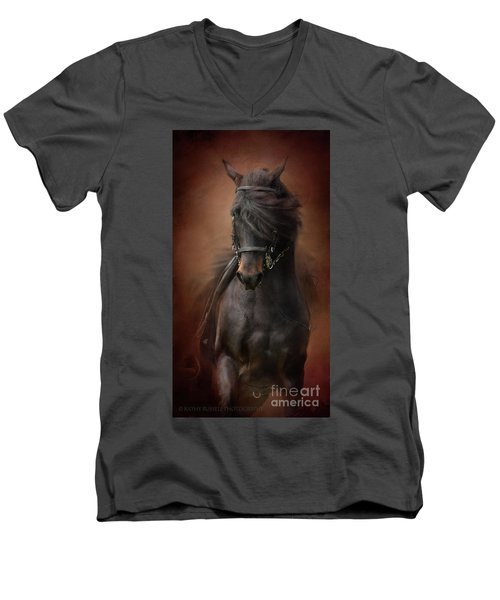 Desparate' IIi Men's V-Neck T-Shirt by Kathy Russell