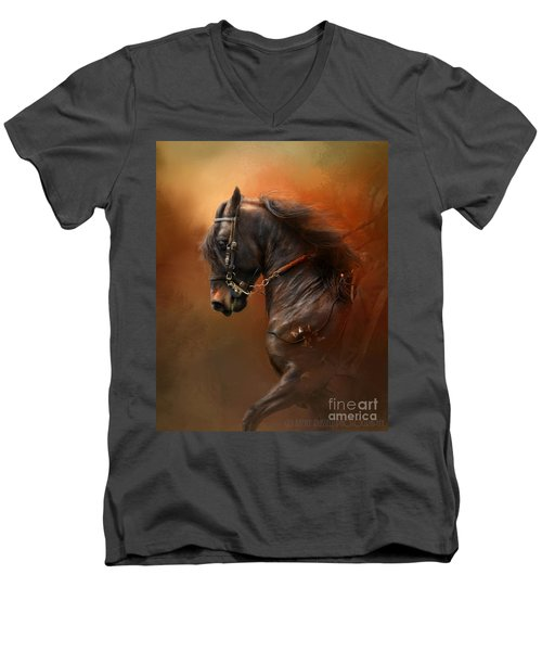Desparate' Men's V-Neck T-Shirt by Kathy Russell