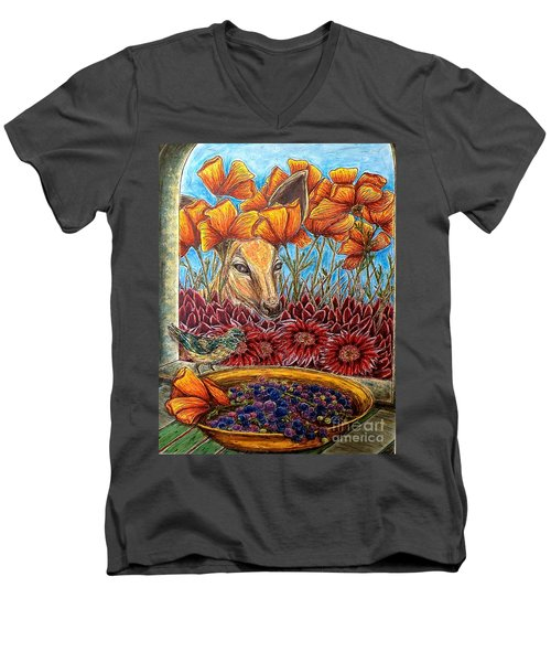 Dessert Anyone? Men's V-Neck T-Shirt by Kim Jones