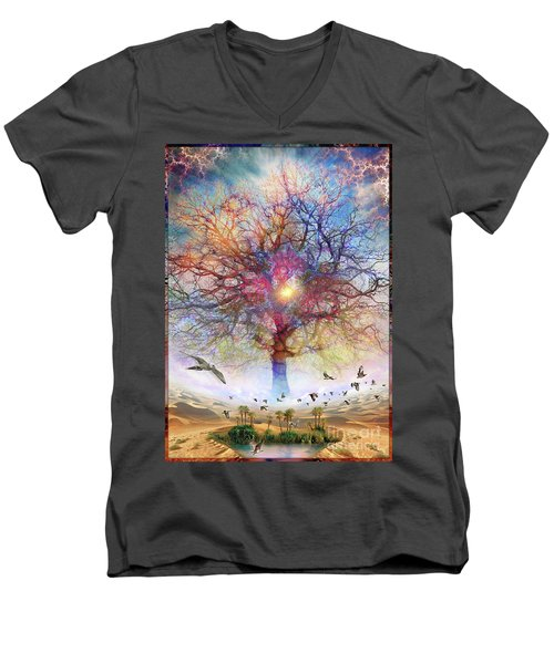 Dessert Of Forgotten Tree Men's V-Neck T-Shirt