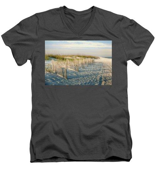 Destination Serenity Men's V-Neck T-Shirt by Sennie Pierson