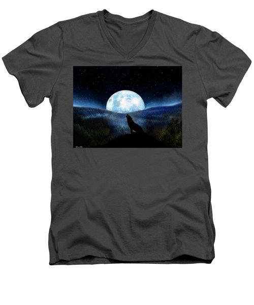 Path Of Destiny Men's V-Neck T-Shirt by Bernd Hau
