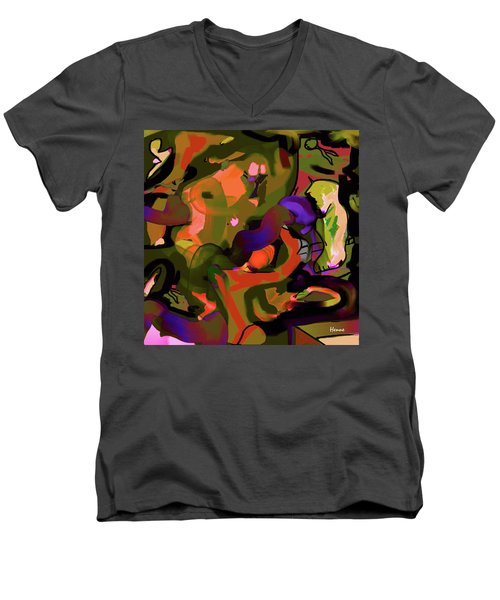 Men's V-Neck T-Shirt featuring the digital art Destiny by Robert Henne