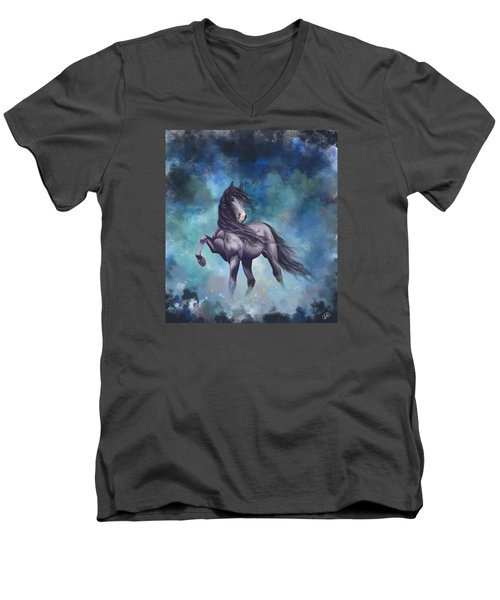 Determination Men's V-Neck T-Shirt by Kate Black