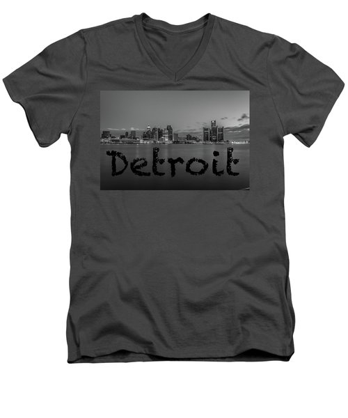 Detroit City  Men's V-Neck T-Shirt