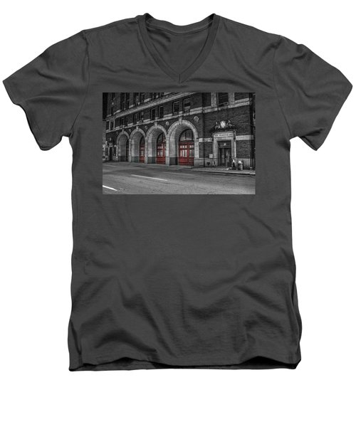 Detroit Fire Department Headquarters  Men's V-Neck T-Shirt
