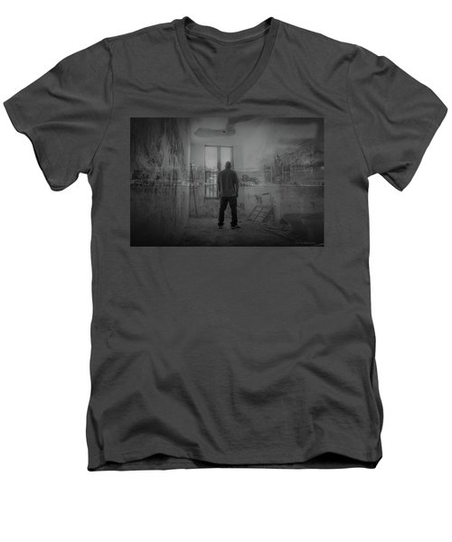 Detroit Urbex  Men's V-Neck T-Shirt