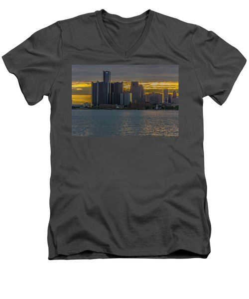 Detroit Versus Everybody  Men's V-Neck T-Shirt