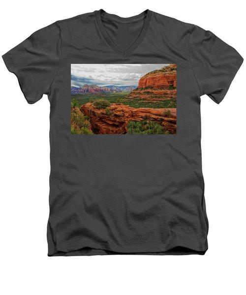 Men's V-Neck T-Shirt featuring the photograph Devil's Bridge by Tom Kelly