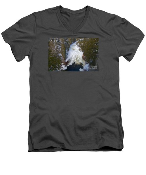 Devil's Kettle Men's V-Neck T-Shirt by Sandra Updyke