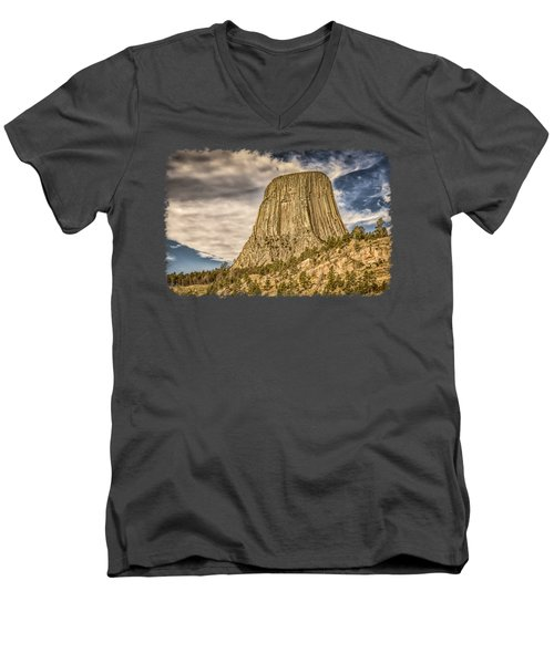 Devils Tower Inspiration 3 Men's V-Neck T-Shirt