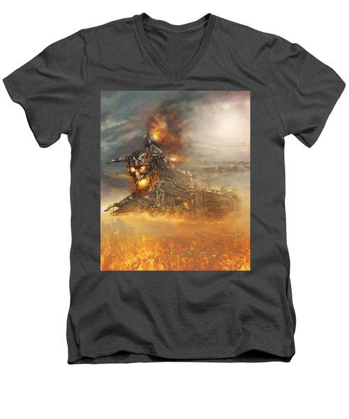 Devils Train 2 Men's V-Neck T-Shirt