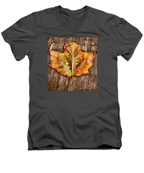 Dew Diligence Men's V-Neck T-Shirt by Heather King