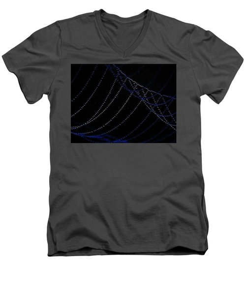Men's V-Neck T-Shirt featuring the photograph Dew Drops by John Glass