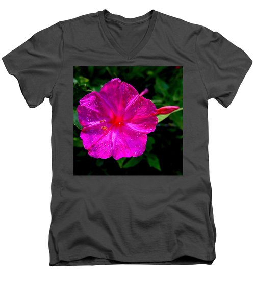 Dew On Four O'clock Blossom Men's V-Neck T-Shirt