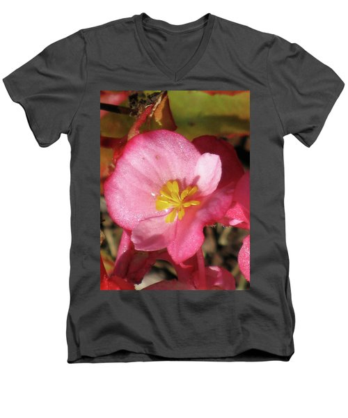 Dew Touched Men's V-Neck T-Shirt by Michele Wilson