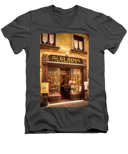 Di Simo Caffe Men's V-Neck T-Shirt