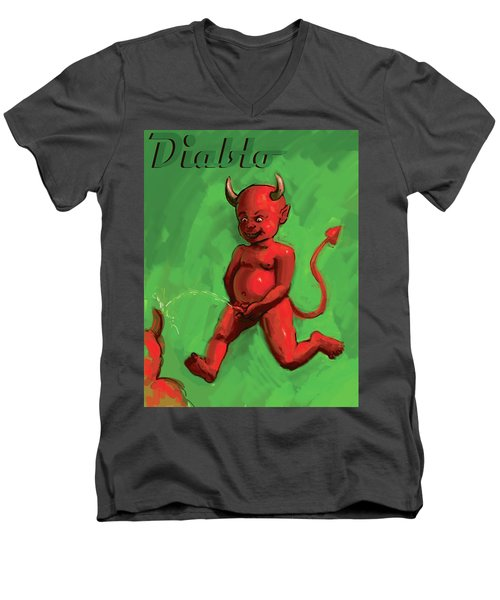 Diablo Men's V-Neck T-Shirt