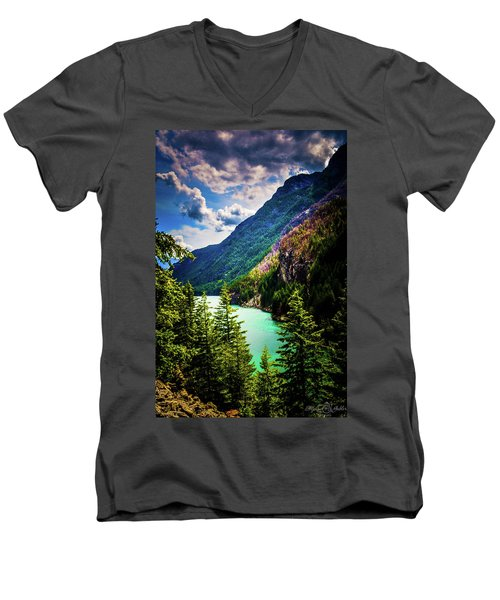 Diablo Lake Men's V-Neck T-Shirt
