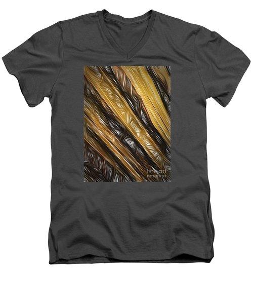 Men's V-Neck T-Shirt featuring the photograph Diagonals  ... by Chuck Caramella