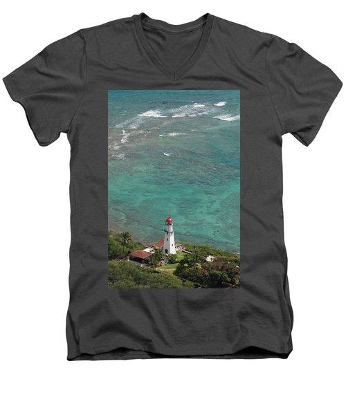 Diamond Head Lighthouse 3 Men's V-Neck T-Shirt