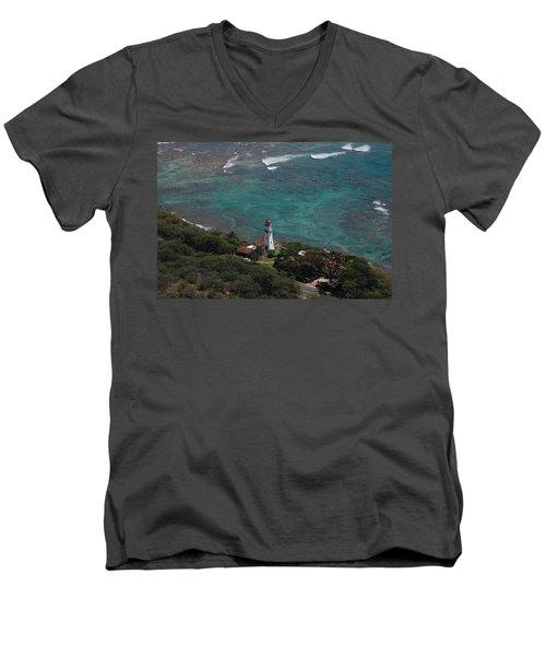 Diamond Head Lighthouse I Men's V-Neck T-Shirt