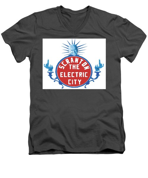 Diamond Joe Men's V-Neck T-Shirt by Michael Coolbaugh
