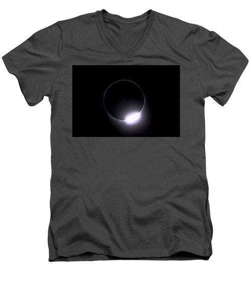 Diamond Ring During Solar Eclipse Men's V-Neck T-Shirt