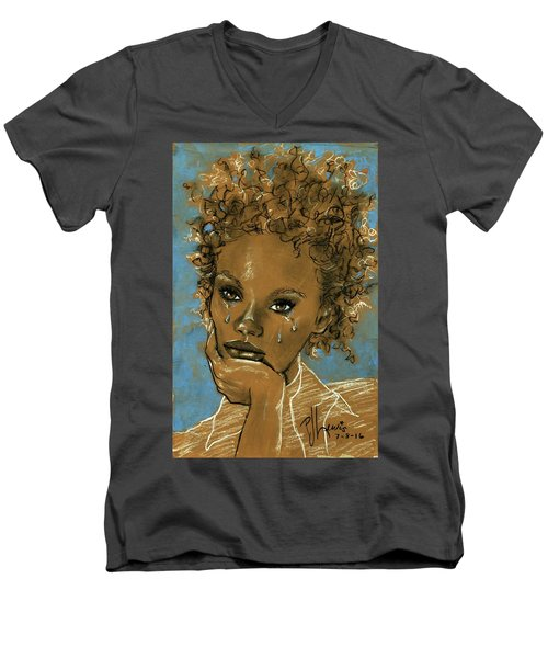 Diamond's Daughter Men's V-Neck T-Shirt by P J Lewis