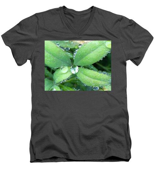 Diamonds Men's V-Neck T-Shirt by Russell Keating
