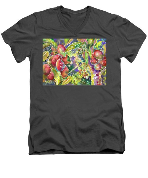 Diane's Mangos Men's V-Neck T-Shirt