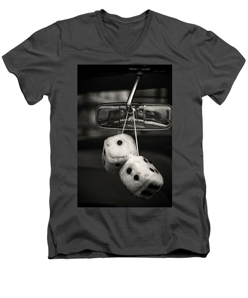 Dice In The Window Men's V-Neck T-Shirt