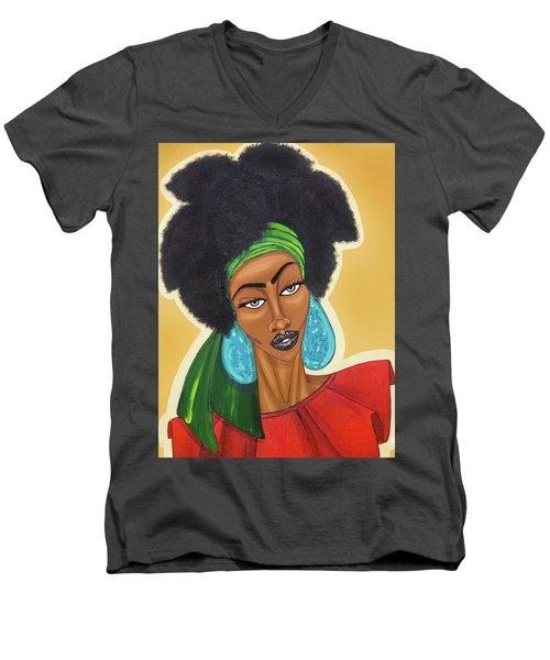 Diced Pineapples Men's V-Neck T-Shirt