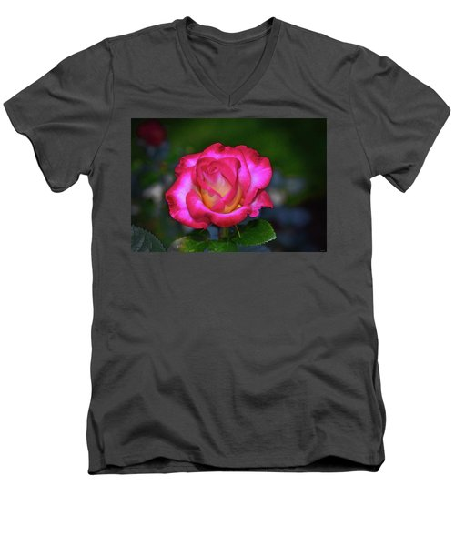 Dick Clark Rose 002 Men's V-Neck T-Shirt