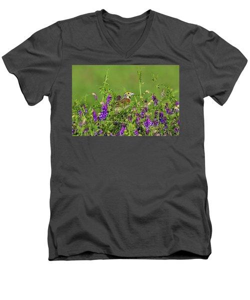 Dickcissel - 8256 Men's V-Neck T-Shirt