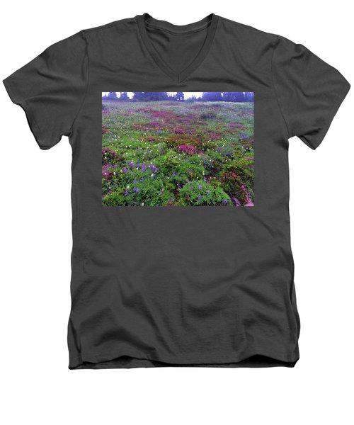 Dickerman Floral Meadow Men's V-Neck T-Shirt