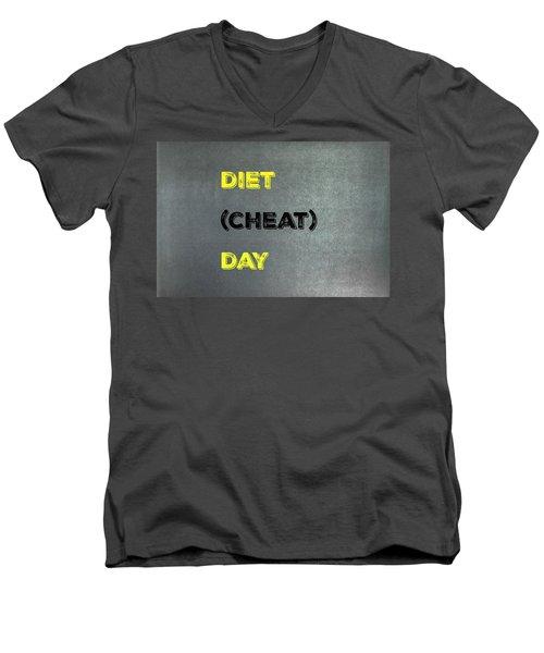 Diet Day? #1 Men's V-Neck T-Shirt
