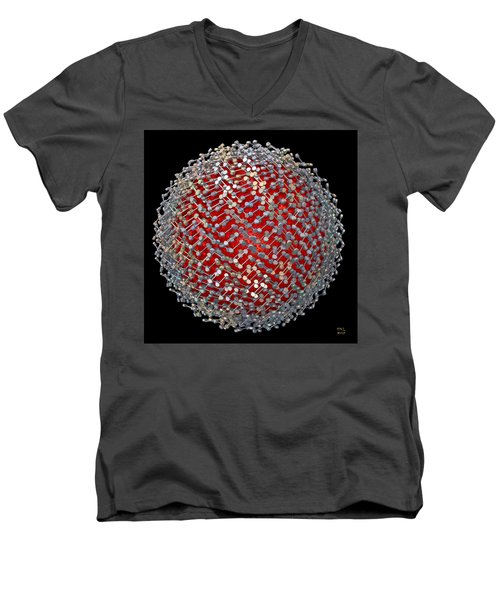 Men's V-Neck T-Shirt featuring the digital art Differentiation  II by Manny Lorenzo