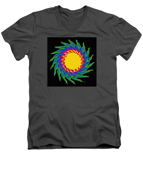 Digital Art 9 Men's V-Neck T-Shirt by Suhas Tavkar