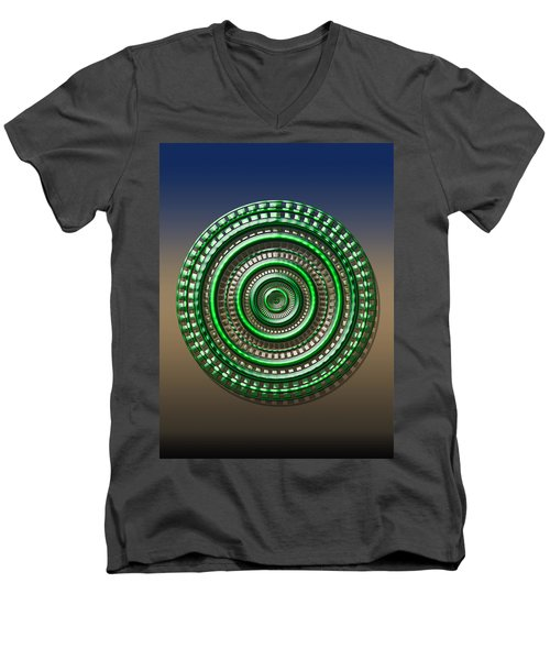 Digital Art Dial 3 Men's V-Neck T-Shirt