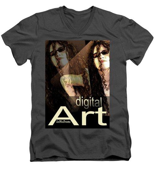 Digital Art Poster Men's V-Neck T-Shirt