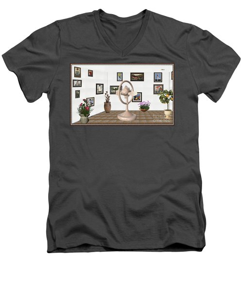 digital exhibartition _ Statue of fish 3 Men's V-Neck T-Shirt