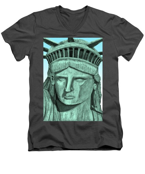 Digital Libby Men's V-Neck T-Shirt