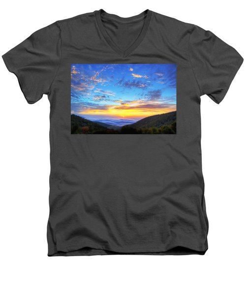Digital Liquid - Good Morning Virginia Men's V-Neck T-Shirt