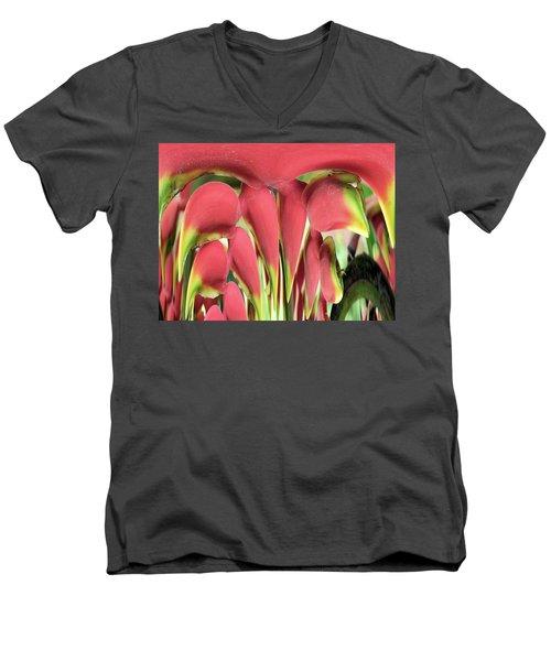 Digital Stalagmites Men's V-Neck T-Shirt by Beto Machado