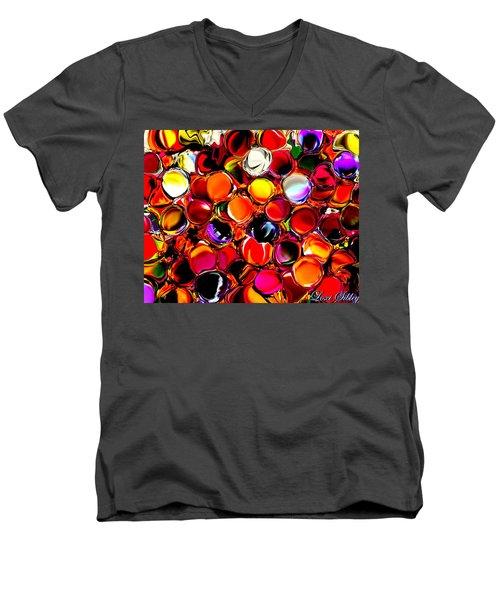 Digital2012b Men's V-Neck T-Shirt by Loxi Sibley