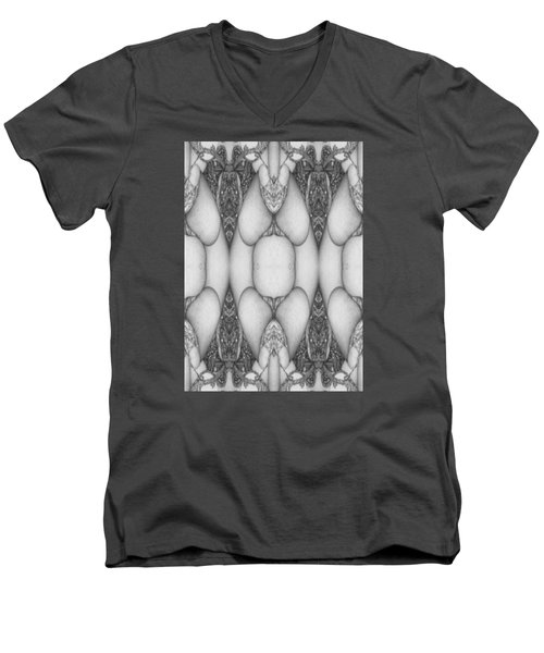 Digitized Ballpoint  Image Twenty Men's V-Neck T-Shirt