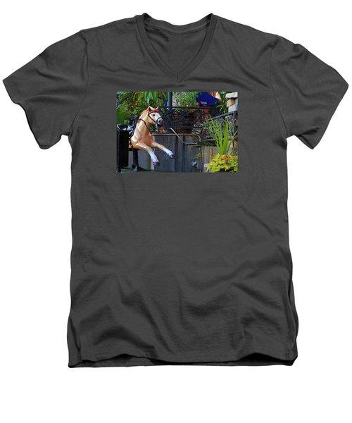 Dime Pony Men's V-Neck T-Shirt