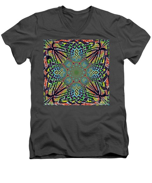 Dimensional Celtic Cross Men's V-Neck T-Shirt