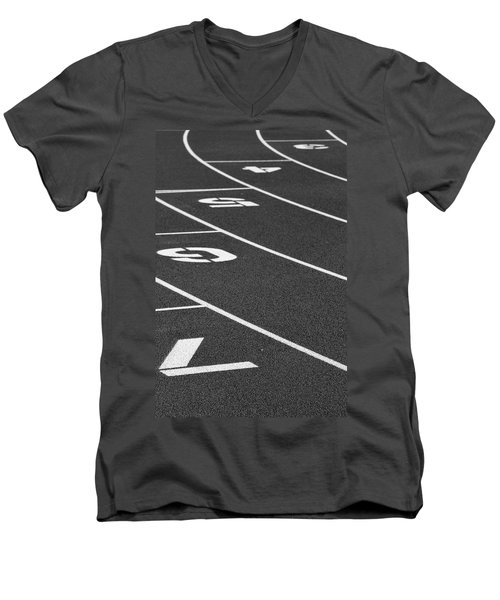 Dimensional Curve Men's V-Neck T-Shirt
